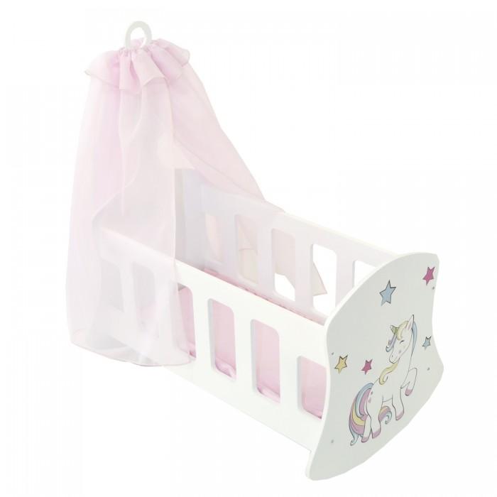 Кроватка для куклы Paremo Люлька с балдахином Мимими Крошка Мили Мини