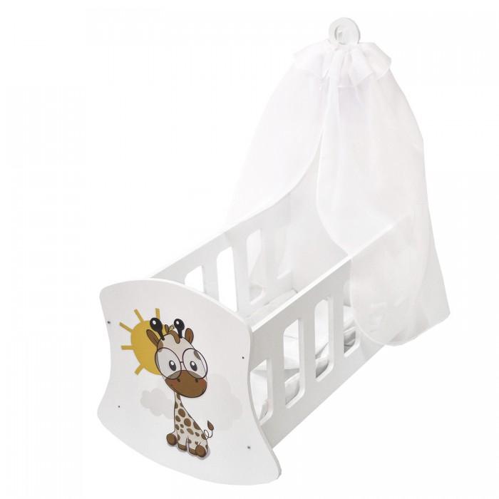 Кроватка для куклы Paremo люлька с балдахином Мимими Крошка Лео