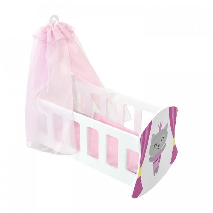 Кроватка для куклы Paremo люлька с балдахином Мимими Крошка Ми