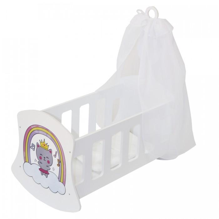 Кроватка для куклы Paremo Люлька с балдахином Мимими Крошка Миу Мини