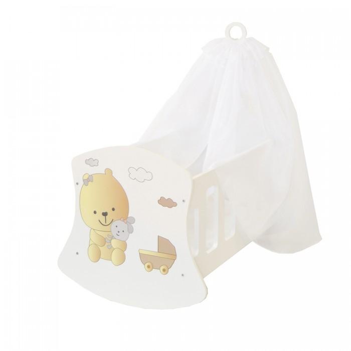 Кроватка для куклы Paremo Люлька с балдахином Мимими Крошка Ди Мини