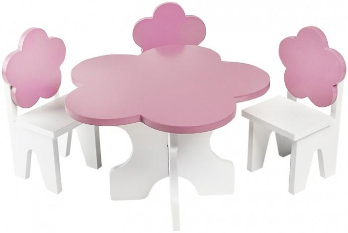Купить Кукольные домики и мебель, Paremo Набор мебели для кукол Цветок (стол + стулья)