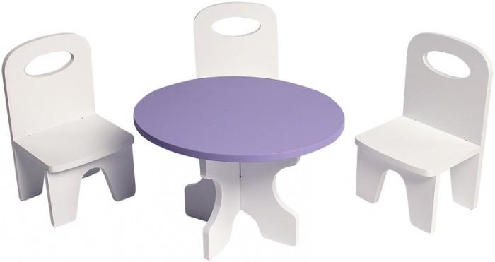 Кукольные домики и мебель Paremo Набор мебели для кукол Классика (стол + стулья)