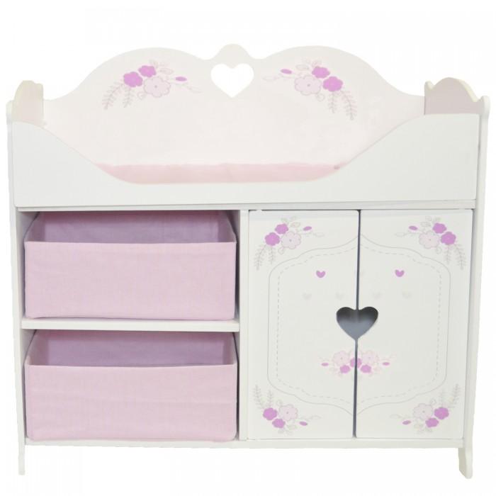 Кроватка для куклы Paremo шкаф Розали Мини Цветы