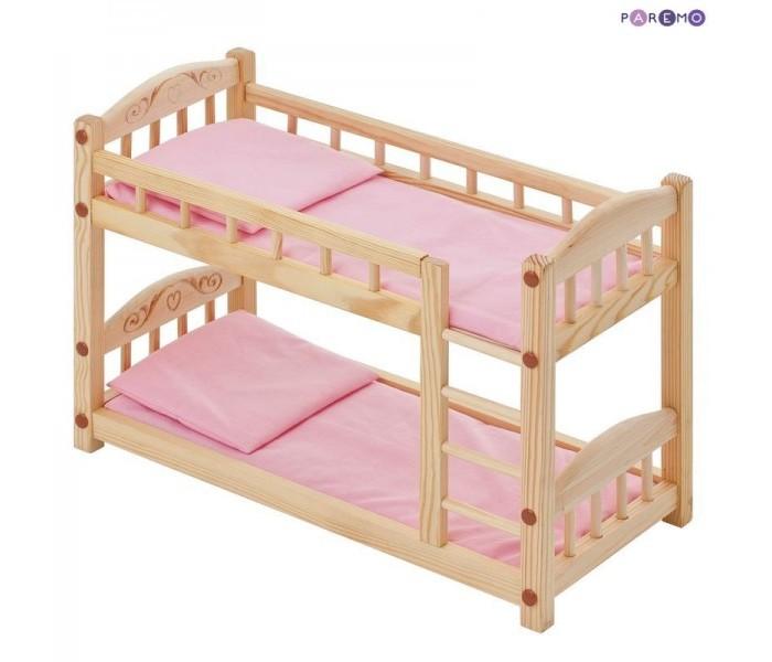 Кукольные домики и мебель Paremo Двухъярусная кроватка для кукол
