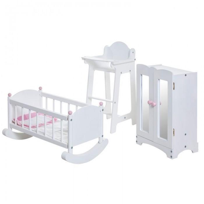 Paremo Набор кукольной мебели (стул+люлька+шкаф)
