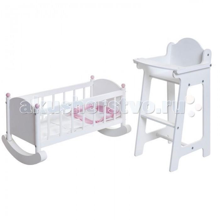 цена на Кукольные домики и мебель Paremo Набор кукольной мебели (стул+люлька)