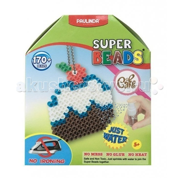 Мозаика Paulinda Мозаика Super Beads - Кексик 170 элементов мозаика paulinda мозаика 2 в 1 super beads кораблик и слоник 230 элементов