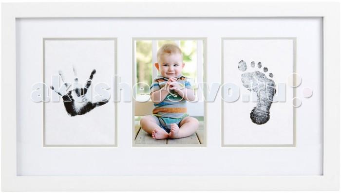 Детская мебель , Фотоальбомы и рамки Pearhead Рамочка тройная без текста (Отпечаток) арт: 441709 -  Фотоальбомы и рамки