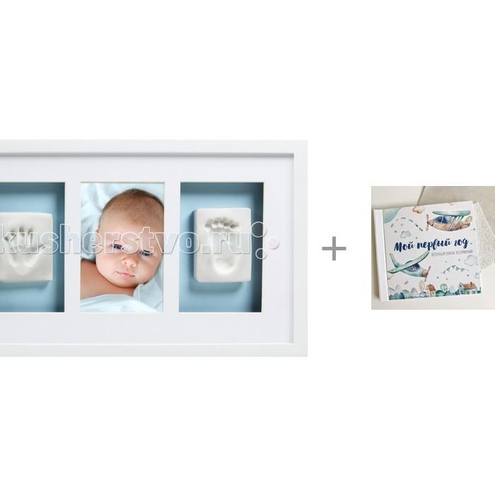 Купить Фотоальбомы и рамки, Pearhead Рамочка тройная с альбомом Mimishka kids Мой первый год Самолётик