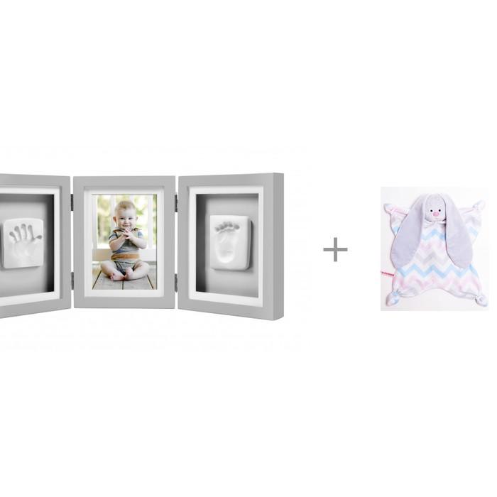 Фотоальбомы и рамки Pearhead Рамочка тройная складная с комфортером Мякиши Плюш