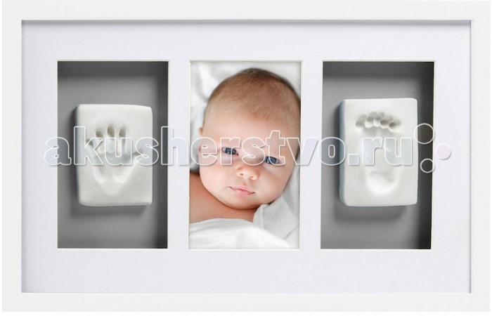 Детская мебель , Фотоальбомы и рамки Pearhead Рамочка тройная (Слепок) арт: 441719 -  Фотоальбомы и рамки