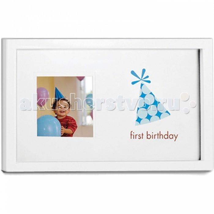 Фото - Фотоальбомы и рамки Pearhead Рамочка Мой первый день рождения мой первый год жизни голубой