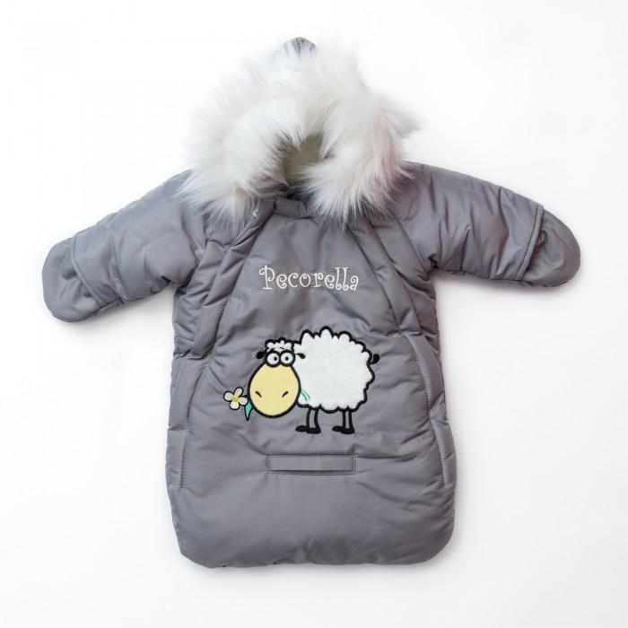 Pecorella Комбинезон для новорожденных Just SilverКомбинезон для новорожденных Just SilverЗимний конверт Pecorella Комбинезон для новорожденных Just Silver 2000000003696 - данная модель является трансформером благодаря съемной внутренней меховой подкладке из 100% овечьей шерсти. Поэтому этот конверт послужит Вам как при лютых 30-градусных морозах, так и при температуре 10+.  Меховая подкладка снимается очень легко. В демисезонном варианте внутренняя сторона - 100% хлопок. Меховая опушка на комбинезоне является также съемной деталью.  Конверт-комбинезон открывается при помощи 2-х молний практически до самого конца, что позволяет без труда одеть или раздеть малыша. Рукава комбинезона имеют овороты, закрыв которые, вы сможете полностью защитить ручки малыша от ветра и непогоды. Горловина имеет специально продуманную систему закрывания, позволяющую обеспечить защиту горлышка малыша от ветра и мороза.  Прорезь внизу конверта предназначена для пристегивания малыша в автокресле.  Состав: Материал верха: непромокаемая, непродуваемая, удерживающая тепло ткань (плащевка 100% п.э.). Утеплитель: мех из натурального овечьего ворса. Наполнитель: холкой 100г/м2. Материал подкладки: трикотаж (футер - 100% хлопок). Опушка: мех — искусственный песец.<br>