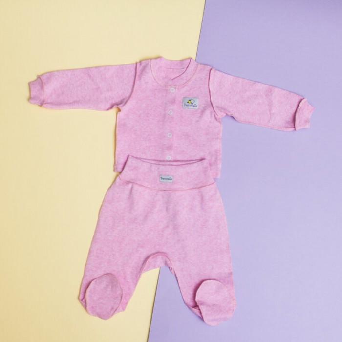 Pecorella Комплект Розовый меланж (кофточка и штанишки)