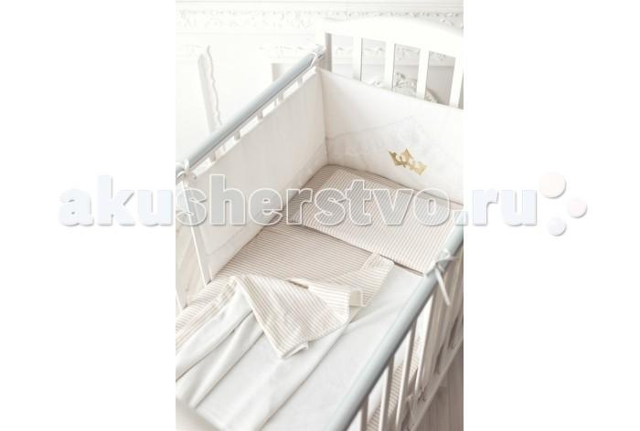 Комплект в кроватку Pecorella Sand Strips (3 предмета)Sand Strips (3 предмета)Комплект постельного белья Pecorella Sand Strips из 100% хлопка.   Комплект постельного белья из 100% хлопка Простыня на резинке, которая сохранит форму, нарядный вид, ощущение чистоты и порядка в кроватке.  Мягкий плед - вот что нужно Вашему малышу во время сна. Он отлично пропускает воздух. Получается и тепло, и кожа малыша не потеет. Плед- одеяло на основе хлопкового велюра обладает не только носкостью, но и прекрасно выглядит. Мягкий бархатистый ворс на одной стороне и нежный трикотаж на другой способствуют приятным тактильным ощущениям. Наволочка из нежной хлопковой ткани.  В наборе: Простыня на резинке (120х60 см), Мягкий плед (120х90 см), наволочка (50х30 см)<br>