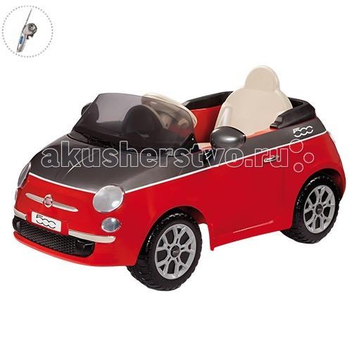 Электромобиль Peg-perego Fiat 500 + р/уFiat 500 + р/уОдноместный красный Fiat 500 с радиоуправлением!  Выдерживает максимальную нагрузку до 25 кг.  Электоромобиль приводится в движение при нажатии на педаль и останавливается, если педаль отпустить.  Также, родители могут управлять движением машины с помощью пульта.  Максимальная скорость движения 3,9 км/ч. Время непрерывной работы при максимальной нагрузке - 75 мин. Электромобиль оснащен клаксоном, открывающимся капотом с фальш-мотором, пластиковыми подлокотниками, боковыми зеркалами и передними фарами. Дверцы у машины не открываются. Время первой зарядки аккумулятора - 12ч, время последующих зарядок - 8ч.  Аккумулятор и зарядное устройство входят в комплект.  Габариты в собранном виде: 112 х 75,5 х 58 см.<br>