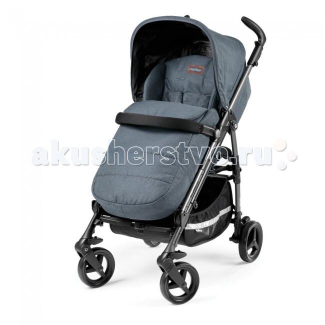 Коляска-трость Peg-perego Si CompletoSi CompletoКоляска-трость Peg-perego Si Completo предназначена для малышей в возрасте от 6-ти месяцев до 3-х лет.  Легкая, прочная, современная коляска-трость, особенно популярная среди родителей, для которых безопасность и удобство ребенка стоят на первом месте. У нее легкая алюминиевая рама, которая складывается одной рукой по принципу трости. В сложенном виде коляска Perego Si Completo стоит без поддержки и переносится за специально предусмотренную ручку.  Прогулочный блок большой и глубокий. Его спинка регулируется в 3-х положениях. Максимально опущенная спинка и поднятая подножка позволяют получить полноценное спальное место. Всего вариантов установки у подножки два.  Безопасность Peg-Perego Si Completo гарантируется надежным бампером и прочными ремнями безопасности с 5-ю точка прилегания. Степень натяжения ремней может изменяться по вашему желанию. Движений они не стесняют. Бампер может использоваться как столик для игрушек.  От дождя ребенка защитит съемный капюшон, оснащенный складной солнцезащитной вставкой. Капюшон и вся обивка Peg-Perego Si Completo выполнена из однотонного текстиля с едва заметным перламутровым узором из кружочков.  Ткань плотная, надежная, очищающаяся посредством простой стирки. Высоту ручек вы можете подстроить под свой рост и зафиксировать в выбранном положении. Фиксируются также передние поворотные колеса. Они имеют мягкую амортизацию и плавно движутся практически по любым поверхностям.  Прогулочное сидение:  регулируемая спинка в 3-х положениях   5-точечные ремни безопасности Капюшон складывающийся, съемный.  Шасси:   легкая алюминиевая рама   компактно складывается В комплект входит: капюшон, накидка на ножки, дождевик.   В комплект не входит подстаканник!  Размеры:  Вес шасси (рамы): 6 кг Ширина шасси: 51 см Размер коляски (шхдхв): 51 х 87 х 103 см Размер коляски в собранном виде: 31 х 99 см.<br>