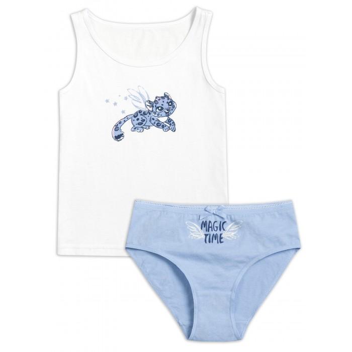Купить Белье и колготки, Pelican Комплект для девочек майка и трусики Magic time