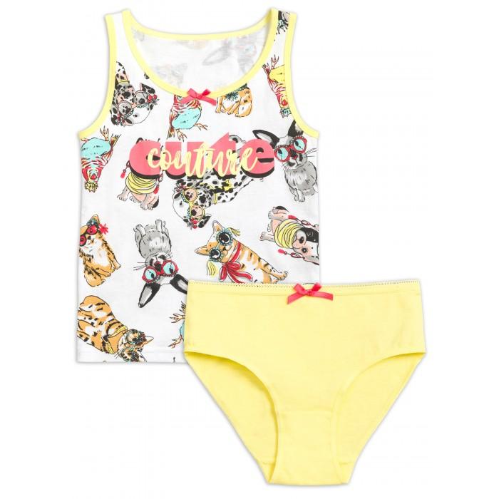 Купить Белье и колготки, Pelican Комплект для девочек майка и трусики Cute