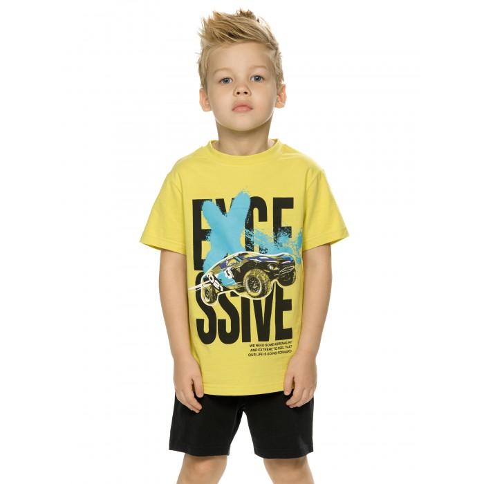 Фото - Комплекты детской одежды Pelican Комплект для мальчиков (футболка, шорты) BFATH3192 комплекты детской одежды pelican комплект для мальчиков джемпер брюки bfajp1203