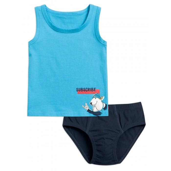 Купить Белье и колготки, Pelican Комплект для мальчиков майка и трусы BUAVL3194