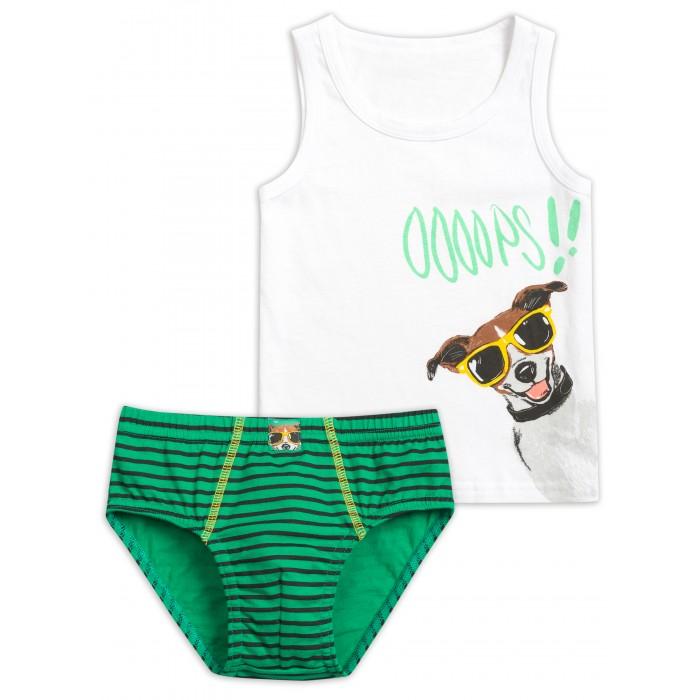 Купить Белье и колготки, Pelican Комплект для мальчиков майка и трусы BUAVL3205