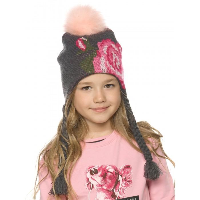 Шапки, варежки и шарфы Pelican Шапка для девочек Rose