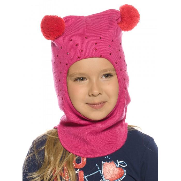 Шапки, варежки и шарфы Pelican Шапка-шлем для девочек Derzkaya