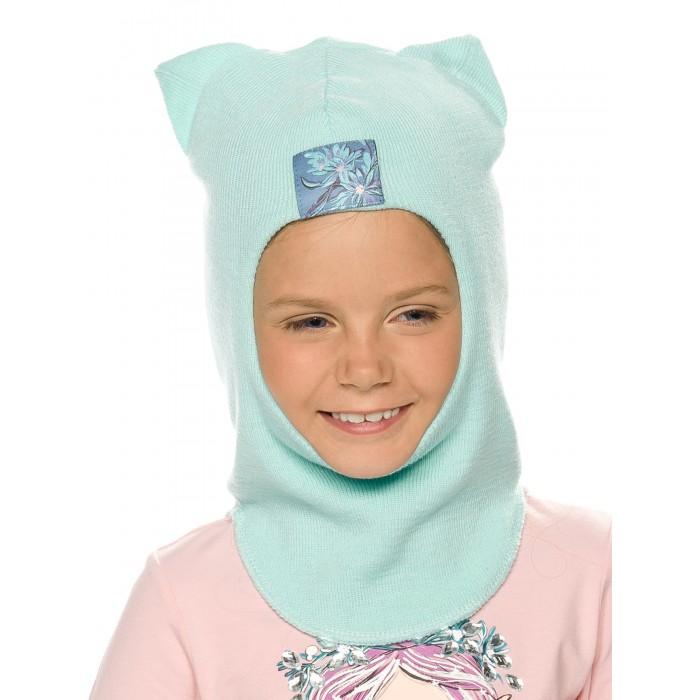 Шапки, варежки и шарфы Pelican Шапка-шлем для девочек Здесь растут эдельвейсы