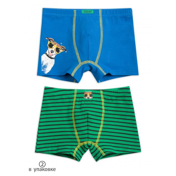 Купить Белье и колготки, Pelican Трусы-шорты для мальчика Полоски 2 шт.