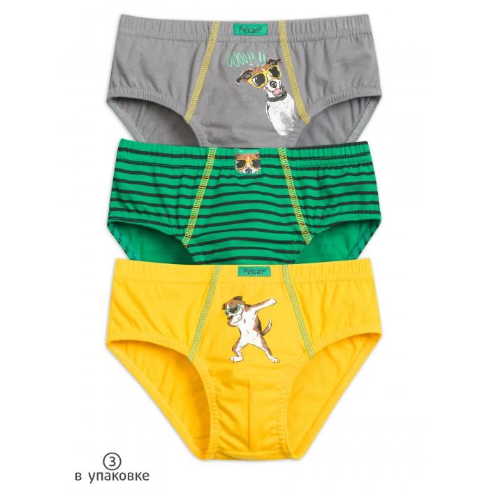 Купить Белье и колготки, Pelican Трусы-слипы для мальчика 3 шт. BULB3205(3)