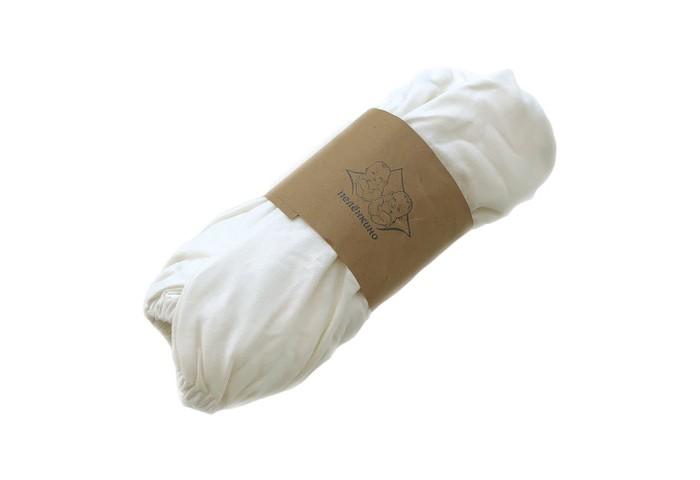 Пелёнкино Трикотажная простынь на резинке в овальную кроватку Premium 125х75 см фото