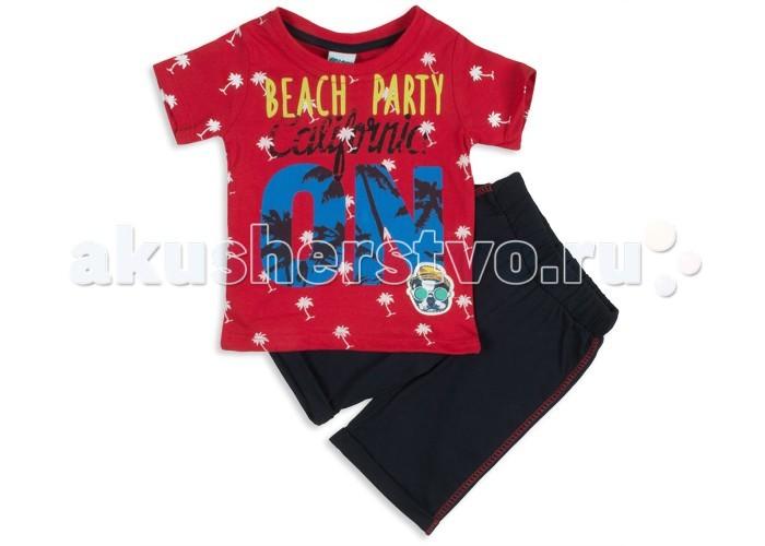 Комплекты детской одежды Pelops Комплект (шорты и футболка) Beach party для мальчика комплекты детской одежды rodeng комплект для мальчика r1138