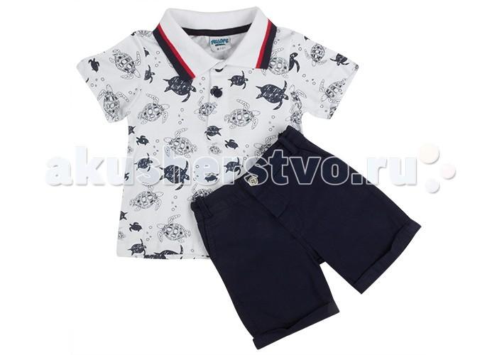 Комплекты детской одежды Pelops Комплект (шорты и футболка-поло) Черепашки для мальчика комплекты детской одежды rodeng комплект для мальчика r1138