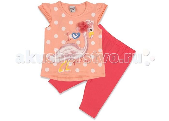 Комплекты детской одежды Pelops Комплект (туника и лосины) Фламенко для девочки