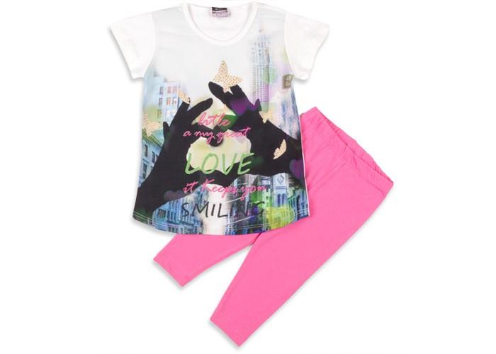 Комплекты детской одежды Pelops Комплект (туника и лосины) Love для девочки