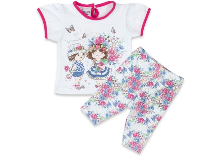 Комплекты детской одежды Pelops Комплект (лосины и футболка) Маленькие Леди для девочки