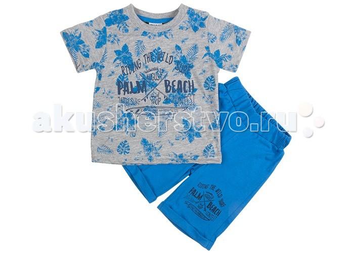 Комплекты детской одежды Pelops Комплект (шорты и футболка) Palm beach для мальчика комплекты детской одежды rodeng комплект для мальчика r1138