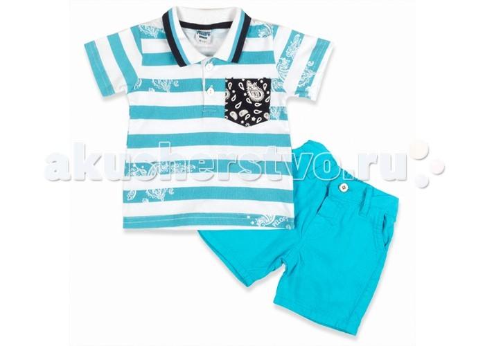Комплекты детской одежды Pelops Комплект (шорты и футболка-поло) Полоска для мальчика комплекты детской одежды rodeng комплект для мальчика r1138