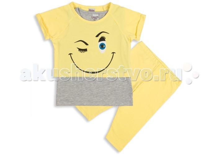 Комплекты детской одежды Pelops Комплект (лосины и футболка) Smile для девочки
