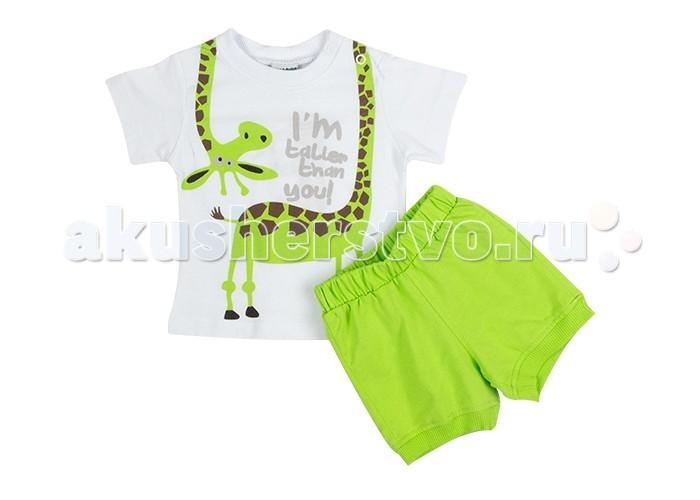 Комплекты детской одежды Pelops Комплект (шорты и футболка) Жираф для мальчика комплекты детской одежды rodeng комплект для мальчика r1138