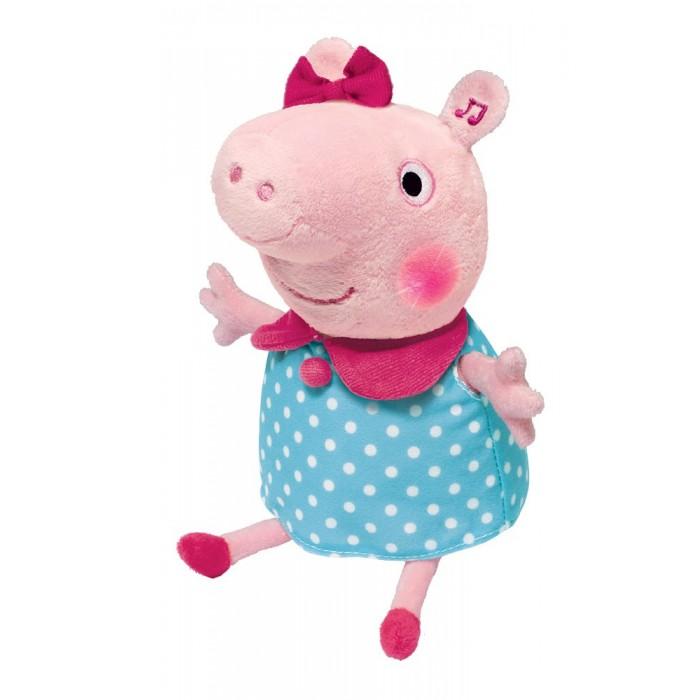 Интерактивные игрушки Свинка Пеппа (Peppa Pig) Мягкая Пеппа анимационная речь свет звук 30 см peppa pig мягкая игрушка джордж с динозавром 40см