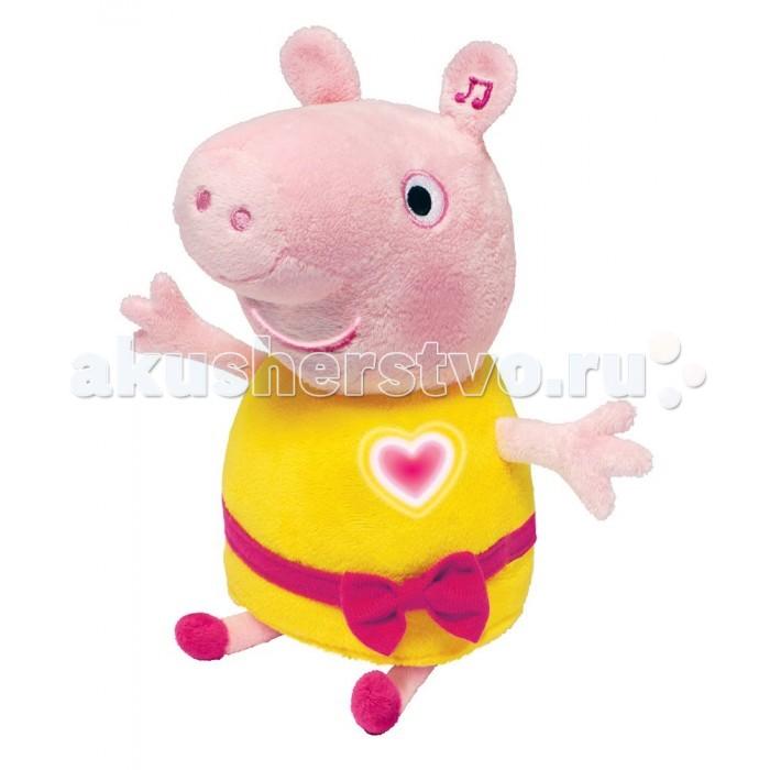 Купить Интерактивные игрушки, Интерактивная игрушка Свинка Пеппа (Peppa Pig) Мягкая Пеппа анимационная речь свет звук 30 см