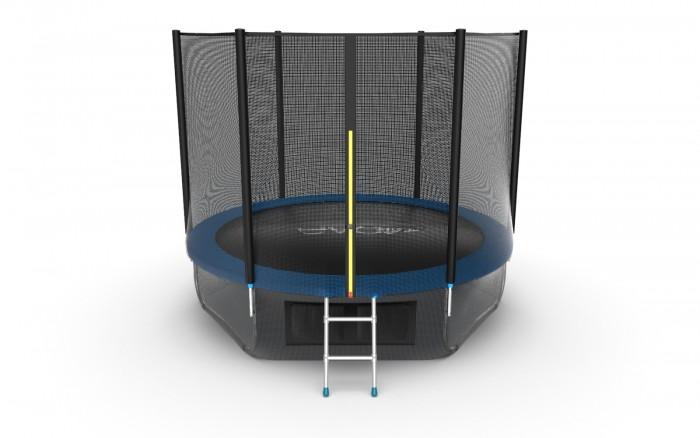 Детские батуты EVO Jump Батут External с внешней сеткой и лестницей 10ft + нижняя сеть
