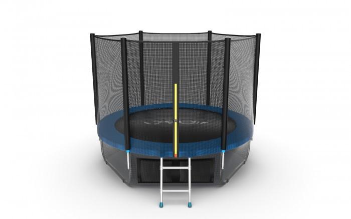 Детские батуты EVO Jump Батут External с внешней сеткой и лестницей 8ft + нижняя сеть