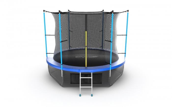 Детские батуты EVO Jump Батут Internal с внутренней сеткой и лестницей 10ft + нижняя сеть батут optifit jump 10ft 3 05 м