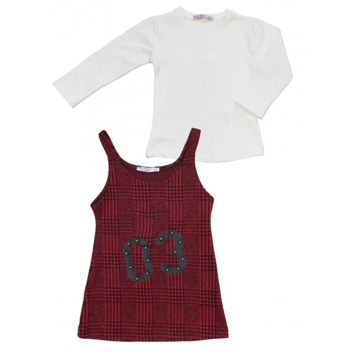 Peri Masali Комплект для девочки (сарафан, лонгслив) PM7449