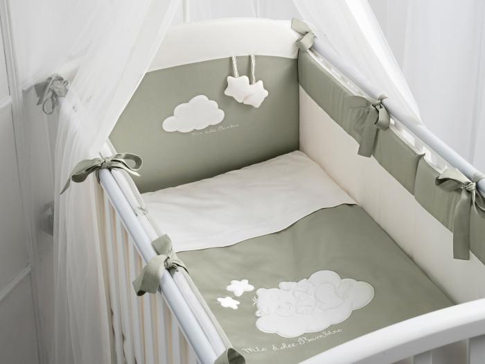 Комплект в кроватку Perina Бамбино из сатина (6 предметов)
