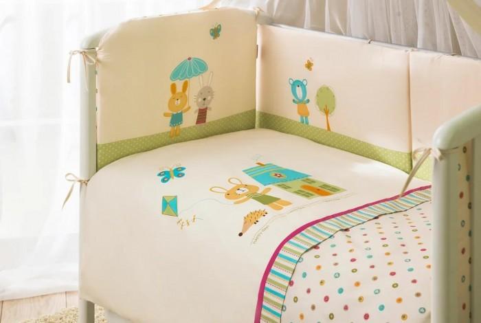 Комплекты в кроватку Perina Глория (7 предметов) матрасы candide дышащий со съемным чехлом 60х120x11 см